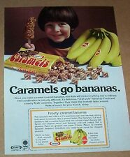 1981 print ad - Kraft Foods Caramels candy Dole Bananas frozen recipe vintage AD