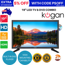 "Kogan 19"" LED TV With Built- In DVD Player 12V USB HDMI (Series 6 EH6000)"