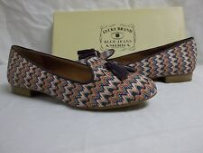 Lucky Brand Size 7.5 M Dolce Multi Color Zig Zag Flats Loafers New Womens Shoes