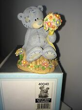 "LARGE 3.5"" HIGH BOXED ME TO YOU FIGURINE TATTY TEDDY BEAR ~ SAY IT WITH FLOWERS"