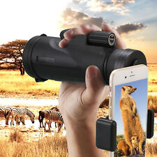Waterproof Fogproof 12X50 Monocular Telescope for Mobile Phone Clip Tripod