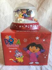 Dora The Explorer Christmas Snowglobe With Box RARE Diego Dora Boots Red