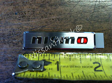 NEW OEM NISMO EMBLEM - INTERIOR FOR NISMO JUKE OR ANY MODEL - CHROME W RED O