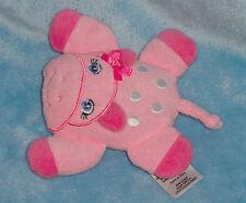 "Garanimal Plush Pink Flat Hippo Bath Tub Toy Terry Cloth Sponge Baby Toy 5"""