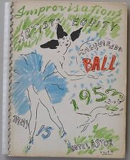 IMPROVISATIONS Artists Equity Masquerade Ball, May 15 1953,  #1969 of 2000