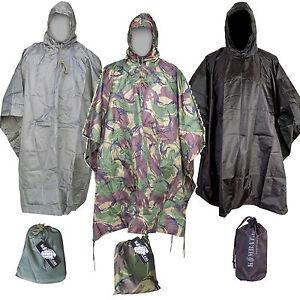Haute Qualité Imperméable US Ripstop Nylon Style Militaire Poncho Armée Basha