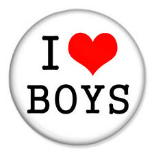 """I Love Boys 25mm 1"""" Pin Badge Geek LGBT Gay Pride Born This Way"""