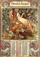 Alphonse MARIE MUCHA virilité calendrier A4