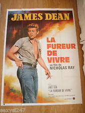 REBEL WITHOUT A CAUSE James Dean ORIGINAL HUGE FRENCH CINEMA MOVIE POSTER 1970's