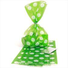 GREEN POLKA DOTS FAVOR BOXES (8) ~ Birthday Party Supplies Treat Loot Goody Sack