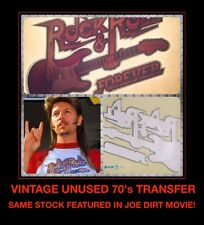 DS JOE DIRT Rock Roll Forever white trash cosplay NOS Unused VTG t-shirt iron-on