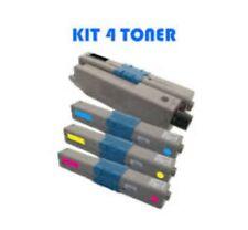 KIT 4 PEZZI TONER COMPATIBILE PER OKI C301DN C321DN MC332DN MC342DN MC342DNW