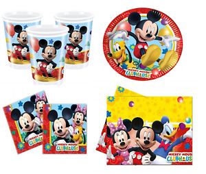Disney Mickey Mouse Clubhouse Party Set Includes Cups Plates Napkins Tablecloth
