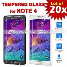 20X Premium Tempered Glass Film Screen Protector 2.5D for Samsung Galaxy Note 4