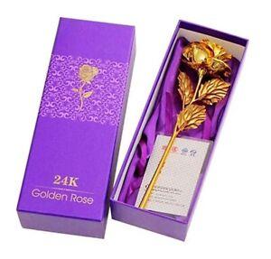 ROSA 24K GOLD Oro San Valentino Fiore Idea Regalo Per Lei