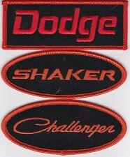 DODGE SHAKER CHALLENGER BLACK ORANGE EMBROIDERED SEW/IRON ON PATCH HEMI MOPAR