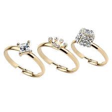 Damenring Messing Ringe verstellbar Gliederinge Zehenringe Zirkonia Kristalle