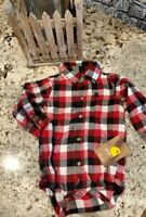 Carhartt Infant Boys flannel  One Piece 9 Month NEW