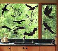 Fenster Aufkleber Fensterbild Vögel Vogel Warnvögel Wintergarten Farb+Motivwahl