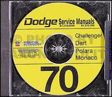 1970 Dodge CD Shop Manual Challenger Dart Polara Monaco Swinger Repair Service
