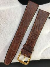 "CORREA-STRAP GENUINE LEATHER PIEL MARRÓN 18MM ""NEW OLD STOCK 1970"""