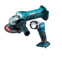 Makita DGA452 18v Cordless Angle Grinder 115mm Lithium-Ion + DML802 Torch