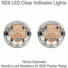 2 RDX LED 73mm Claro Indicador Luces Para Land Rover Defender 90 110 KIT coches