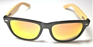 Sunny Boo Bamboo Sunglasses Complete with Case + FREE Extra Pair