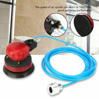 "5"" Pneumatic Polisher Air Water Sander 1/4"" Inlet Grinding Machine Kit Durable"