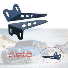 2PCS Off-road Motorcycle Roof LED Light Strip Solid Upper Bar Mounting Bracket