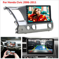 "10.1"" Quad Core Android 9.1 Car GPS Navigation Wifi Radio For Honda Civic 06-11"