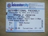 Tickets/ Stub 2006 International Friendly Match - GHANA v JAMAICA, 29 March