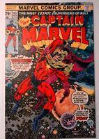Captain Marvel #43 Marvel 1976 VF- Bronze Age Comic Book 1st Print