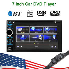 """7""""Touch Screen Car Stereo Double 2Din Radio DVD Player iPod BT TV MP3 + cam P9X0"""
