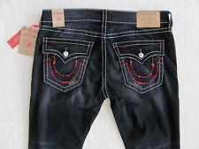 True Religion Straight Jeans-Frankenstein Stitch-Black Cool Mode-Sze 40-NWT $249