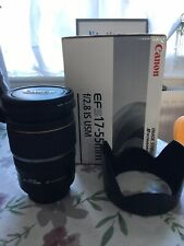 Canon EF-S 17-55mm F/2.8 IS USM Lens with UV filter + lens hood