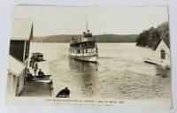 IROQUOIS FERRY BOAT ARRIVING AT DORSET LAKE OF BAYS ONTARIO CANADA POSTCARD