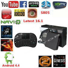 Android4.4 S805 Quad Core Latest 16.1 TV Box 1080P HDMI +Keyboard Media Player