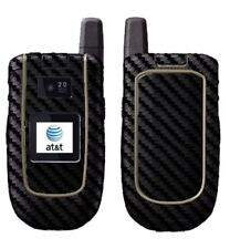 Skinomi Carbon Fiber Black Phone Skin+Screen Protector for Motorola Tundra VA76R