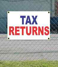 2x3 TAX RETURNS Red White & Blue Banner Sign NEW Discount Size & Price