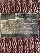 RARE Antique 1914 Traveler's Insurance Postcard