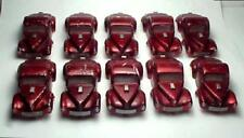 MODEL MOTORING T-JET 10 CANDY PLATED RED WILLYS  BLEM SLOT CAR BODIES