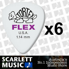 6 x Jim Dunlop Tortex FLEX 1.14MM Gauge Guitar Picks *NEW* 428R Plectrums