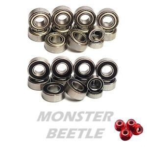 Bearing Set TAMIYA MONSTER BEETLE 58060 58618 12 RUBBER/METAL Hop up Upgrade