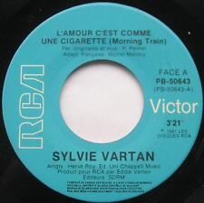 *SYLVIE VARTAN L'amour c'est cigarette CANADA ORIG 1981 FRENCH RCA 45 Vinyle
