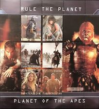 Planet Of The Apes Stamps 2001 Imitation Sci-Fi Sheet Science Fiction Wahlberg