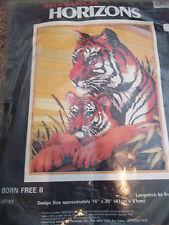 "Horizona Born Free 2 Tiger & Cub Printed Cross Stitch 16"" x 20"""