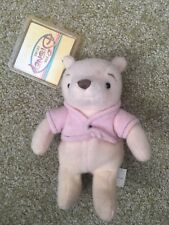 """DISNEY STORE EXCLUSIVE CLASSIC WINNIE THE POOH 8"""" BEAN BAG PLUSH  Tag protector"""