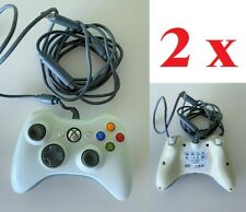 2 X MANDO MICROSOFT XBOX 360 CON CABLE  ORIGINAL USADO + ADAPTADOR A USB