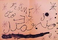 MIRO - FEMME - ORIGINAL LITHOGRAPH -1965 - FREE SHIP IN THE US!!!